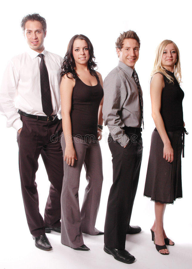 A business team. Business team with its members are posing stock images