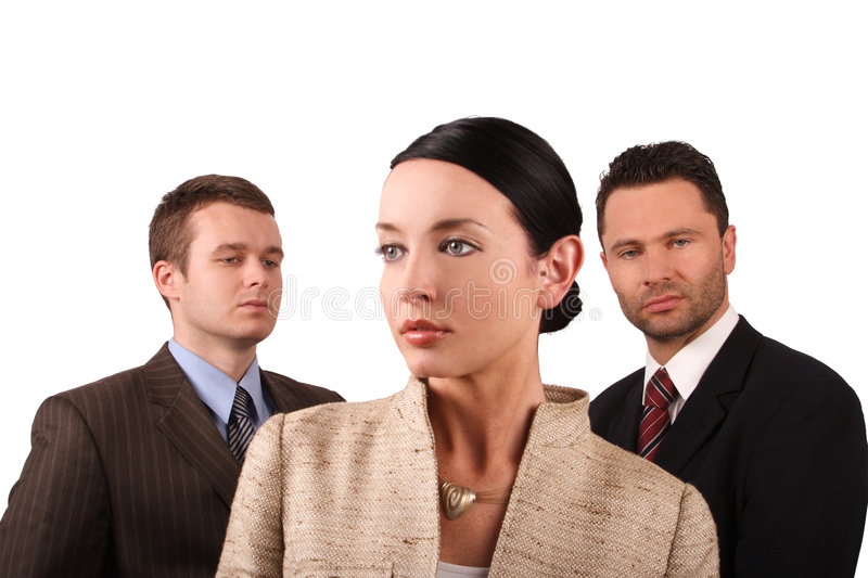 Business team 3 - isolated stock images