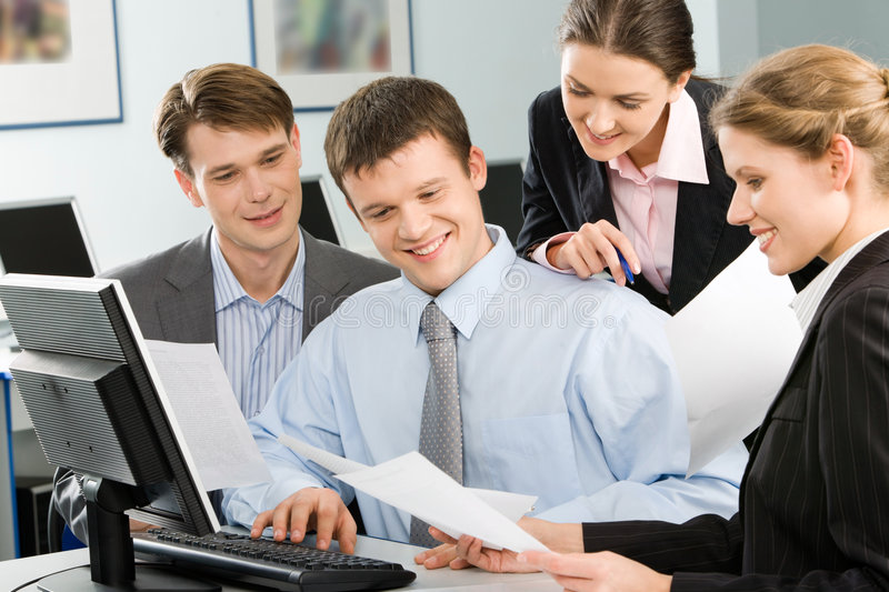 Business team. Are discussing an new idea of project royalty free stock images