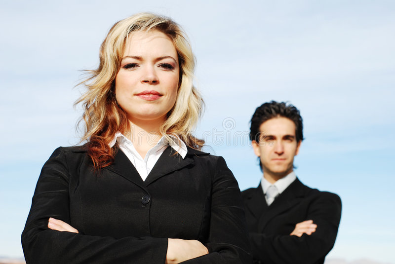 Business team. Portrait of a confident and successful business team posing together royalty free stock photography