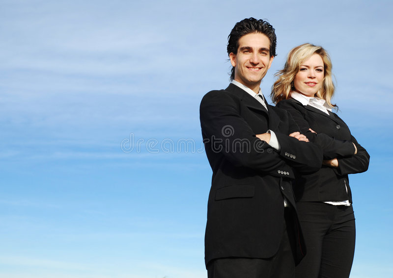 Business team. Portrait of a confident and successful business team posing together stock photography