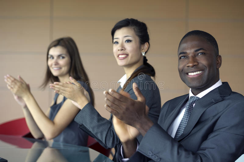 Download Business team applauding stock photo. Image of copy, horizontal - 16822506