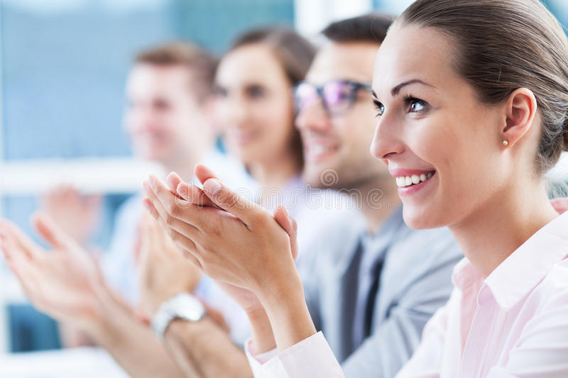 Download Business team applauding stock image. Image of applause - 31520919