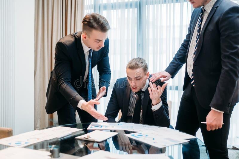Business team argument debate paper discussion stock photos