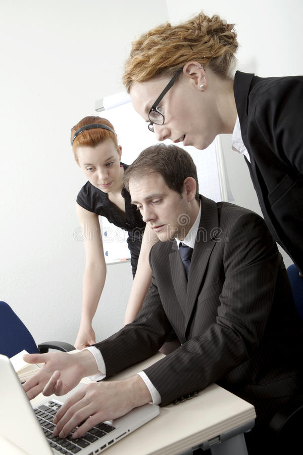 Business team brainstorming royalty free stock photo