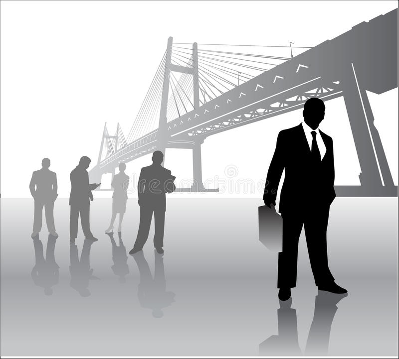 Business Team With Bridge Stock Photos