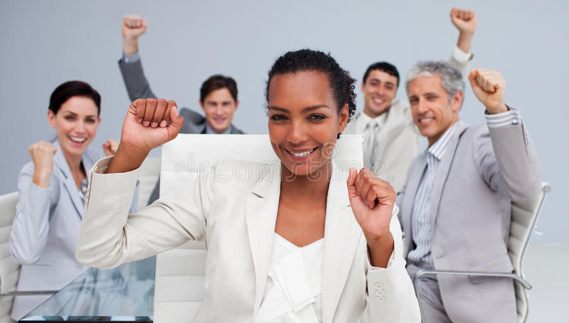 Download Business Team Celebrating A Sucess Stock Photo - Image of male, communication: 11900542