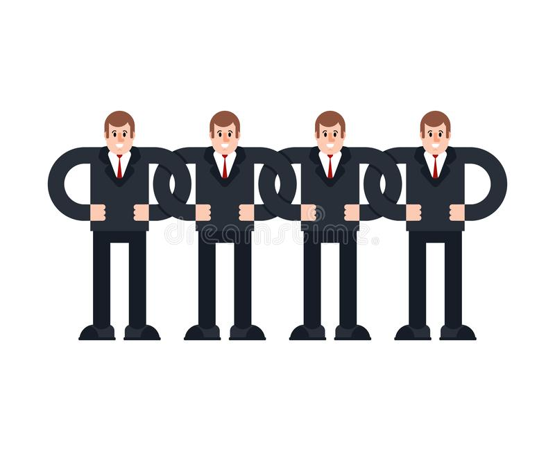 Business team chain. Company structure system. Company structure.  stock illustration