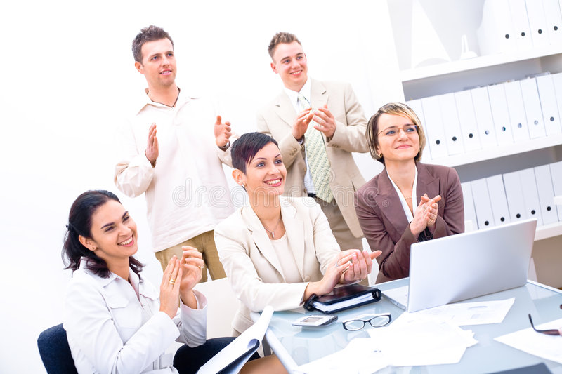 Download Business team clapping stock photo. Image of coworkers - 3926634