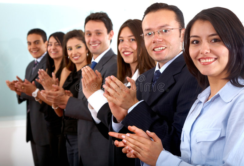 Download Business team clapping stock photo. Image of businesspeople - 5459326