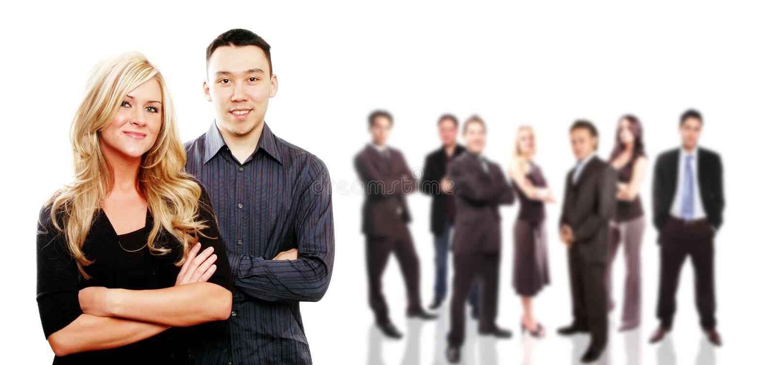 Business team concept. Business team and its members are posing together stock image
