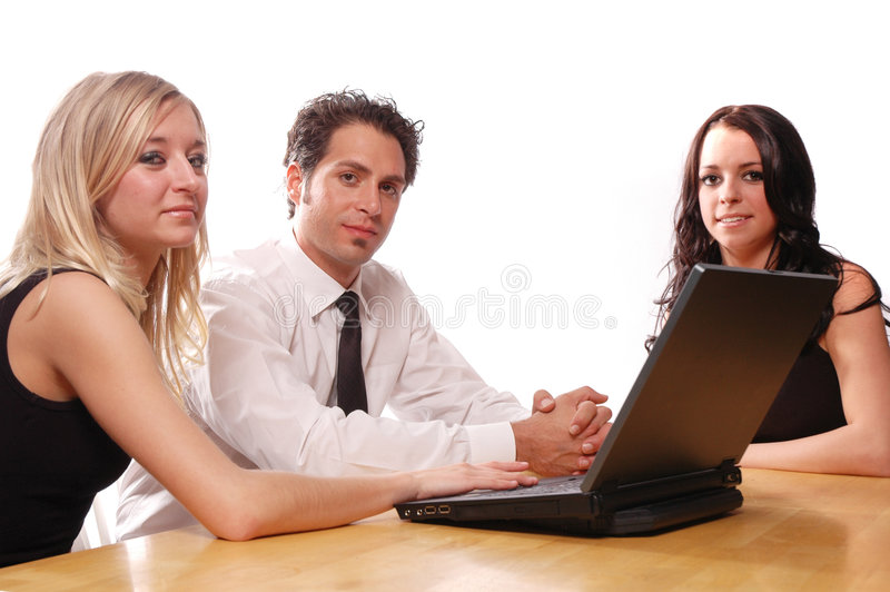 Business team concept. With its members having a meeting royalty free stock image