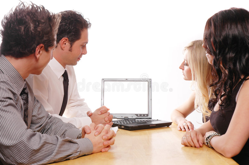 Business team concept. Business team members are having a meeting royalty free stock photo