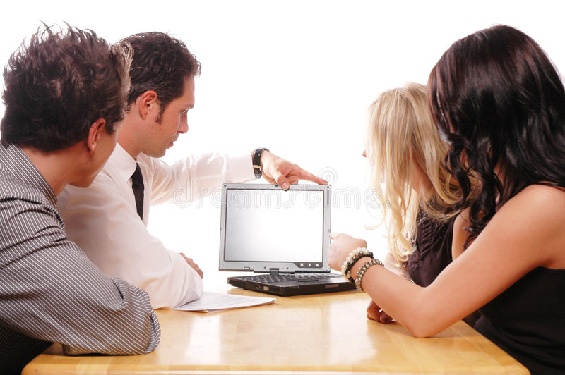 Business team concept. Business team members are having a meeting royalty free stock images