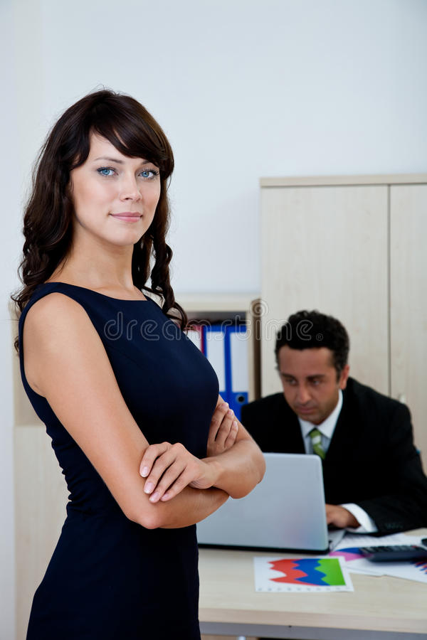 Businesswoman at office royalty free stock image