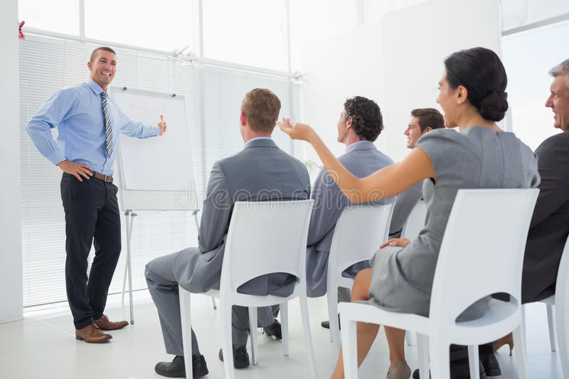 Business team during conference royalty free stock image