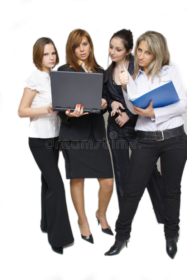 business team with contracts royalty free stock photography