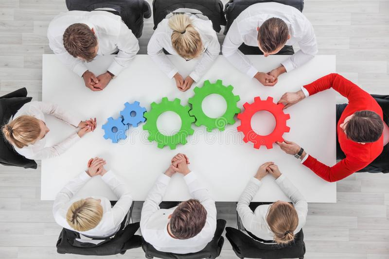 Business team cooperation concept stock photos
