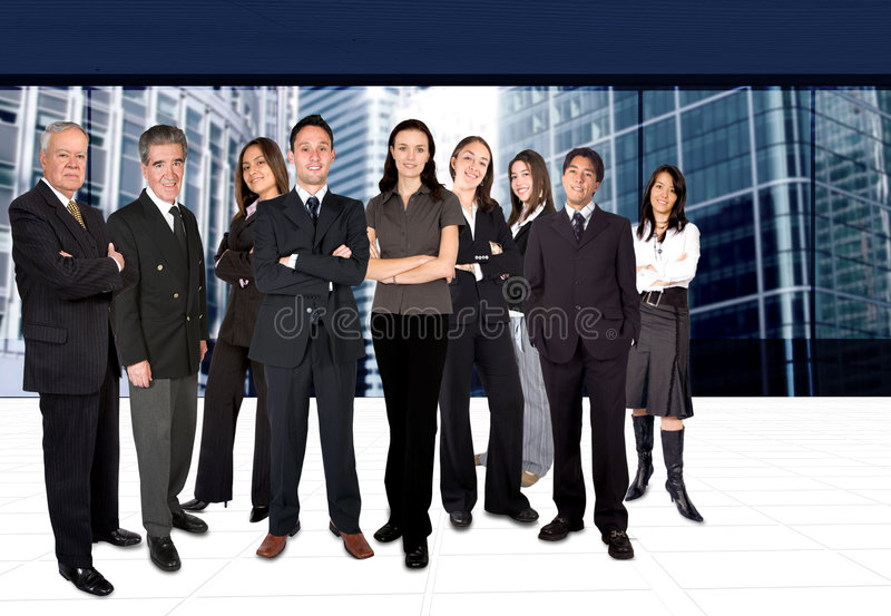 Business team in a corporate environment