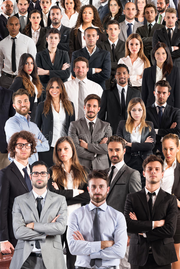 Business team corporate. Group of Men and women business people. Business team and corporate concept stock images