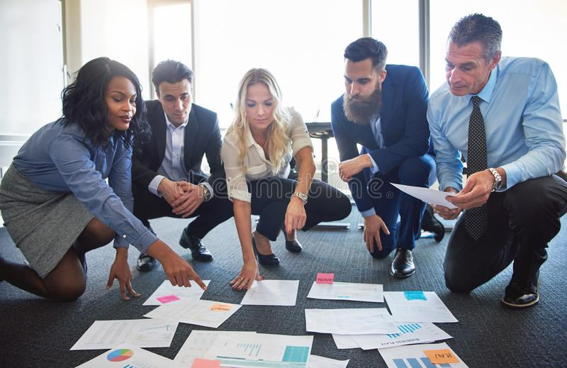 Business team discussing ideas royalty free stock images