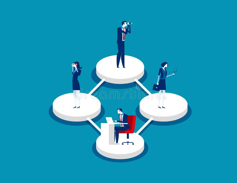 Business team and different styles professions. Concept business vector,  Teamwork, Working, Office collection stock illustration