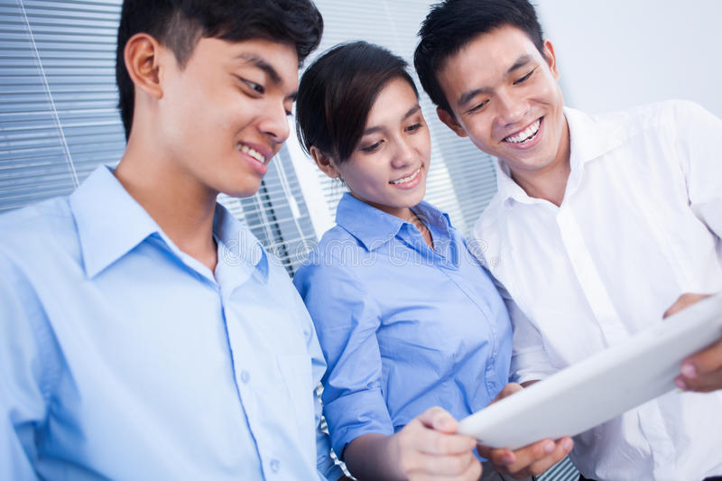 Download Business Team With Digital Tablet Stock Photos - Image: 26420693