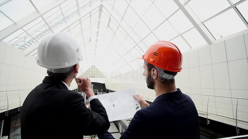 Business team discuss a architectural design royalty free stock image