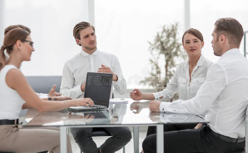 Business team discussing new business project. royalty free stock photos