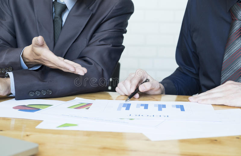 Business team discussing their ideas in office. royalty free stock image