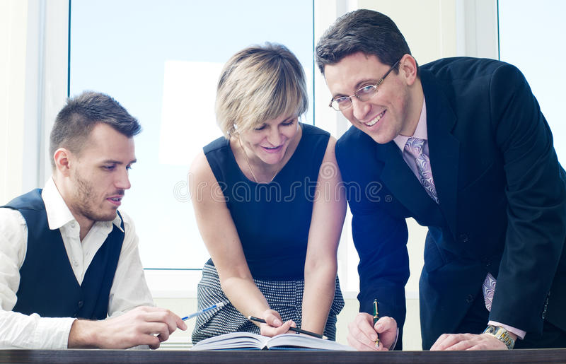 Download Business Team In Discussion Stock Photo - Image: 23530912