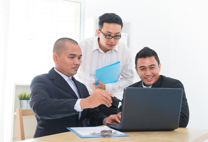 Download Business team discussion stock photo. Image of internet - 28317274