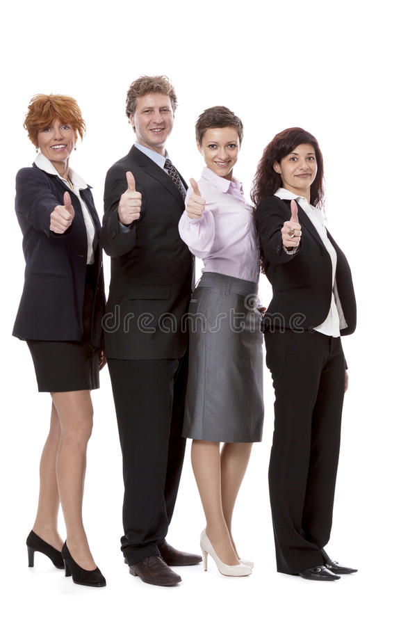 Business Team Diversity Happy Isolated Royalty Free Stock Photography