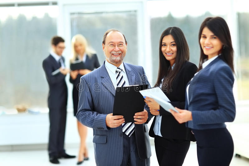 business team with document royalty free stock images