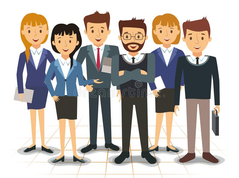 Business team of employees vector. Illustration stock illustration