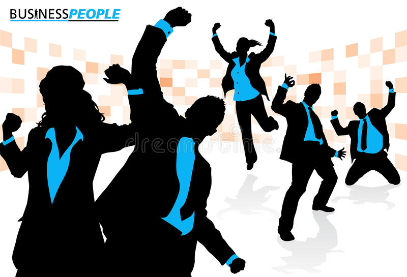 Business Team Enjoying Success royalty free illustration