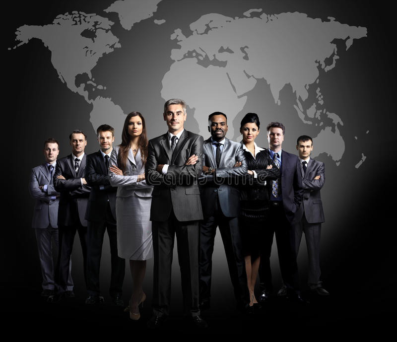 Download Business Team Formed Of Young Businessmen Stock Photo - Image: 29647538