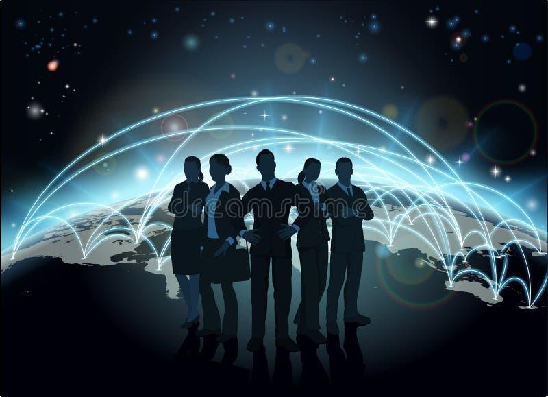 Business team globe royalty free illustration