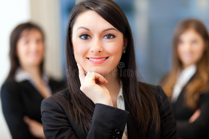 Business team: group of businesspeople stock photo