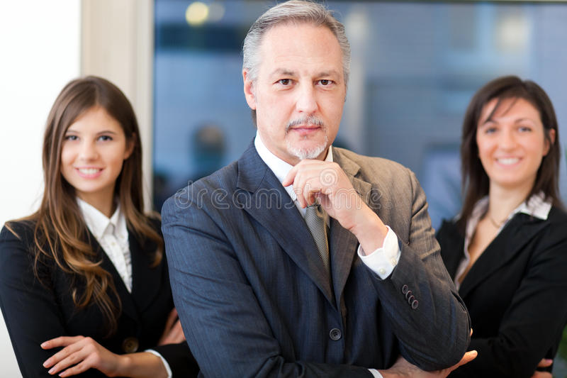 Business team, group of businesspeople royalty free stock photography