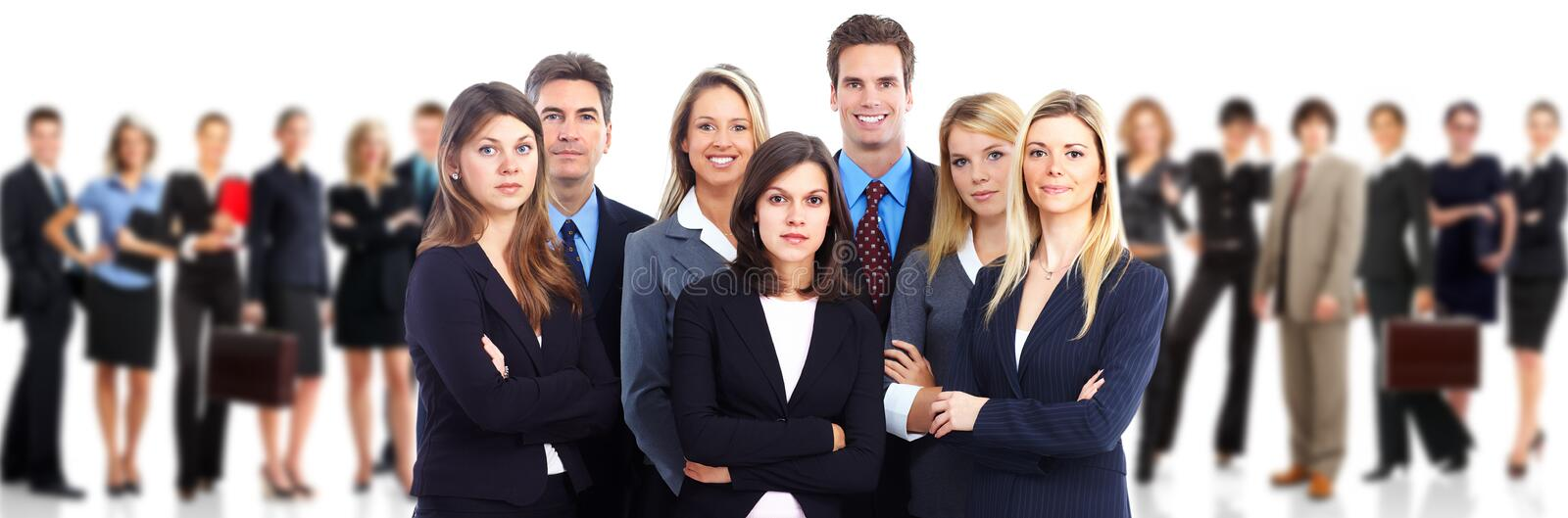 Business team. Group of business people over white background royalty free stock images