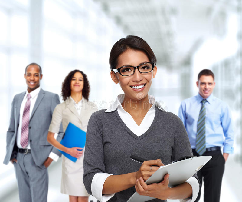 Business team. Group of professional business people. Teamwork and education background stock photos