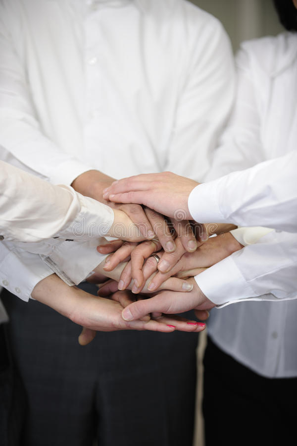 Business team with hands together royalty free stock images