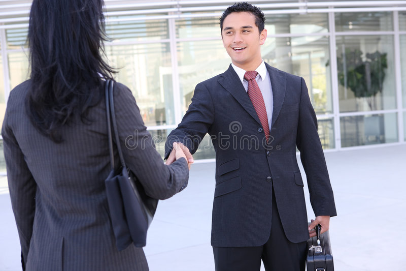 Business Team Handshake royalty free stock image