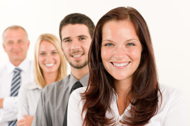 Download Business Team Happy Standing In Line Portrait Stock Image - Image: 21227933