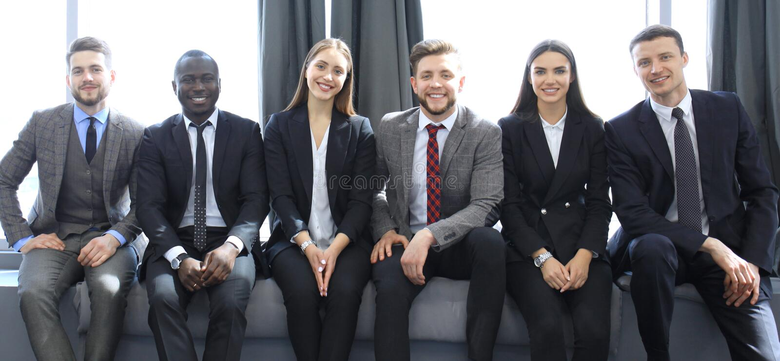 Business team having meeting in the office. royalty free stock photos