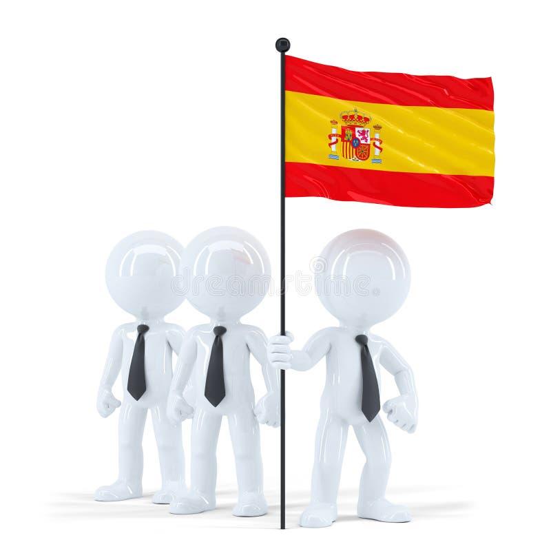 Spanish Teamwork Business Team Stock Illustration