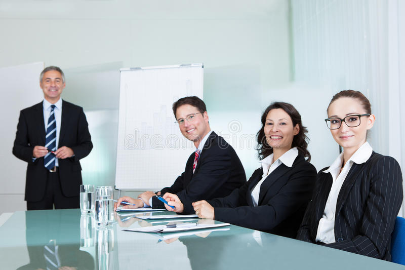 Business team holding a meeting royalty free stock image