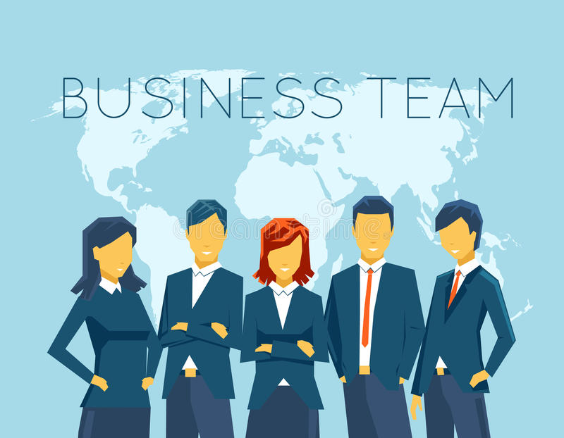 Business team, human resources stock illustration