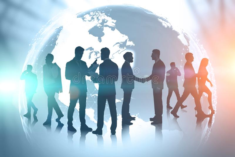 Business team and international communication royalty free stock images